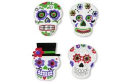 """Stickers """"Calaveras"""" mexicaines - 12 pièces - Formes en Mousse autocollante – 10doigts.fr - 2"""