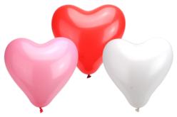 Ballons cœurs, couleurs assorties - Set de 100 - Ballons, guirlandes, serpentins – 10doigts.fr