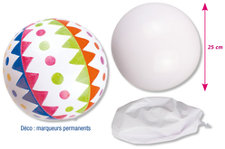 Ballon blanc à décorer - Supports blancs – 10doigts.fr - 2