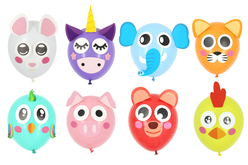 Kit 8 ballons animaux à décorer - Ballons, guirlandes, serpentins – 10doigts.fr