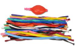 Ballons à modeler - Set de 40 ballons + 1 pompe - Ballons, guirlandes, serpentins – 10doigts.fr - 2