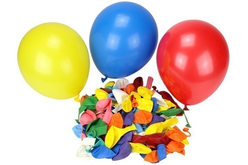 Ballons ronds, couleurs assorties - Set de 100 - Ballons, guirlandes, serpentins – 10doigts.fr