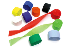Papier crépon bandes de 25 mètres - 10 couleurs - Papiers de crépon – 10doigts.fr