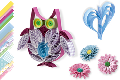 Bandes de papier Quilling couleurs fantaisies - 168 bandes - Quilling, paperolles – 10doigts.fr