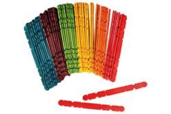 Bâtonnets crantés en bois pour construction - Bâtonnets, tiges, languettes – 10doigts.fr - 2