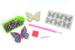 Broches Papillon à Diamanter- Lot de 6 - Kits bijoux – 10doigts.fr - 2
