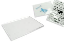 bloc acrylique pour tampons