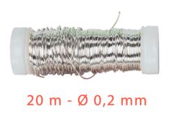 Fil métal fin argent - 20 mètres - Fils aluminium à modeler – 10doigts.fr - 2