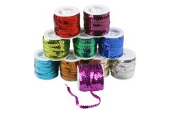 Bobines de rubans pailletés - Set de 10 couleurs - Rubans et cordons – 10doigts.fr