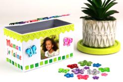 Boite cadre photo en carton blanc 12 cm - Boîtes en carton – 10doigts.fr - 2