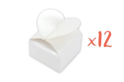 Boîtes à dragées cœur à monter - Lot de 12 - Boites cadeaux – 10doigts.fr