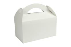 Boîtes à goûter en carton blanc ou kraft - Lot de 6 - Boîtes en carton – 10doigts.fr - 2