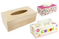Boîte à mouchoirs rectangulaire en bois - Objets pratiques du quotidien – 10doigts.fr
