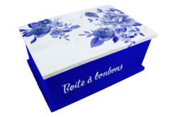 Papier Décopatch Roses bleues - 3 feuilles N°499 - Papiers Décopatch – 10doigts.fr - 2