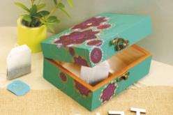 Boîte à thé en bois - Boîtes et coffrets – 10doigts.fr - 2