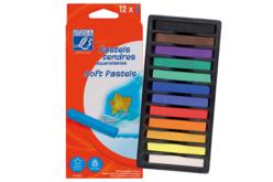 Pastels tendres aquarellables - 12 couleurs - Pastels et Fusains – 10doigts.fr