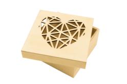 Boîte en bois découpe origami cœur - Boîtes et coffrets – 10doigts.fr