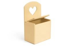 Boite en bois découpe coeur - Boîtes – 10doigts.fr