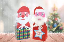 Boîte Père Noël en carte forte blanche - Supports pré-dessinés – 10doigts.fr