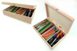 Boîte rectangle 4 casiers - Boîtes et coffrets – 10doigts.fr - 2