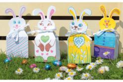 boites lapins de Pâques en carte blanche
