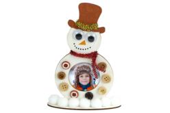 Cadre en bois bonhomme de neige - Supports de Noël – 10doigts.fr - 2