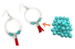 Perles Turquoise - 48 perles - Perles Lithothérapie – 10doigts.fr - 2