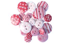boutons acrylique camaieu rose