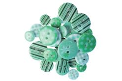 boutons acrylique camaieu vert