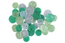 boutons acrylique pailletés vert