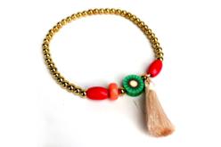 Perles rondes en plastique métallisé or - 1500 perles - Perles en plastique – 10doigts.fr - 2