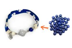 Perles Lapis Lazuli - 48 perles - Perles Lithothérapie – 10doigts.fr - 2