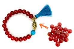Perles Agate rouge - 48 perles - Perles Lithothérapie – 10doigts.fr - 2