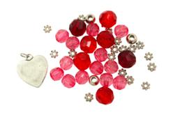 Bracelet rose à facettes - Kit pour 1 bracelet - Bijoux, bracelets, colliers – 10doigts.fr - 2
