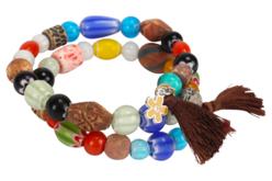 Perles artisanales Troja en céramique - 40 perles - Pierres semi précieuses et minérales – 10doigts.fr - 2