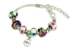 Bracelet en métal pour perles à large trou - Bracelets – 10doigts.fr - 2
