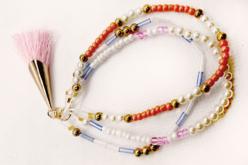 Pompons colorés avec embout métal doré - 5 pièces - Bijoux Ethnique – 10doigts.fr - 2