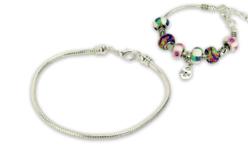 Bracelet en métal pour perles à large trou - Bracelets – 10doigts.fr