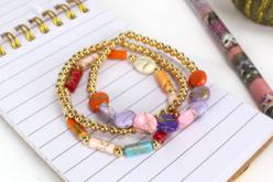Perles Splatter - 70 perles - Perles acrylique – 10doigts.fr - 2