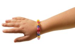 Bracelets pour perles en plastique à gros trous - Set de 24 - Bracelets – 10doigts.fr - 2