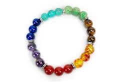 Perles gemmes naturelles  - Rang de 48 perles - Perles Lithothérapie – 10doigts.fr - 2