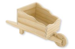Brouette en bois naturel - Paniers en bois – 10doigts.fr