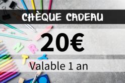 Chèque cadeau 20€ - Chèques Cadeaux – 10doigts.fr - 2