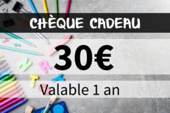 Chèque cadeau 30€ - Chèques Cadeaux – 10doigts.fr - 2