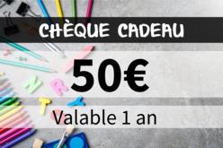 Chèque cadeau 50€ - Chèques Cadeaux – 10doigts.fr - 2