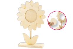 Cadre fleur en bois - Cadres photos en bois – 10doigts.fr - 2