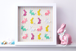 Stickers lapins en feutrine - Set de 24 - Formes en Feutrine Autocollante – 10doigts.fr - 2