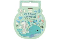 Cahier de coloriage bulles d'animaux - Support pré-dessiné – 10doigts.fr