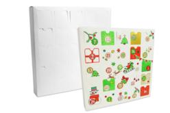 Calendrier de l'avent en carte forte blanche à décorer et à remplir - Calendrier de l'avent – 10doigts.fr - 2