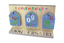 Calendrier étiquettes en bois - Objets pour le bureau – 10doigts.fr - 2